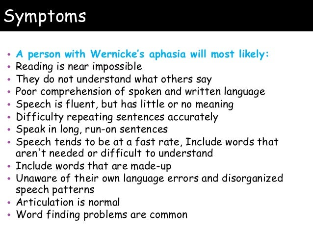 Wernicke's Aphasia Disorder Essay