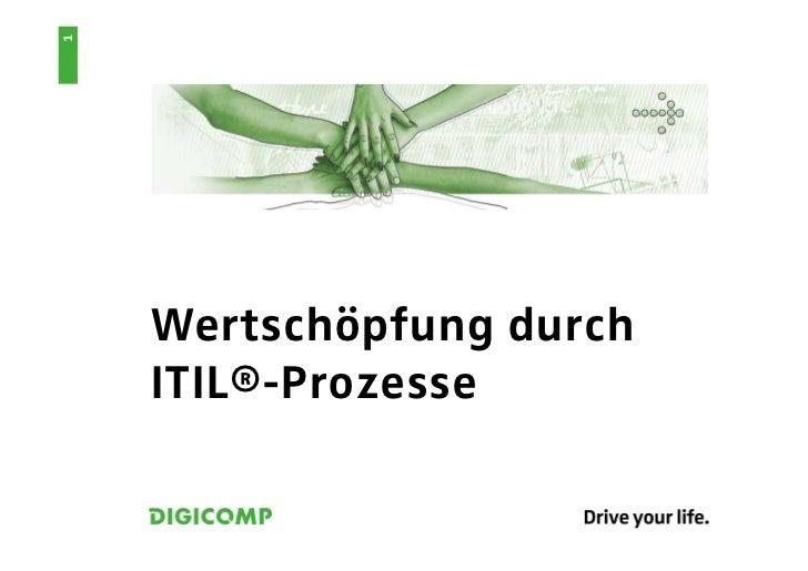 1    Wertschöpfung durch    ITIL®-Prozesse