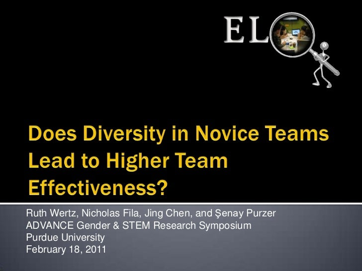 Does diversity in novice teams lead to higher team effectiveness?