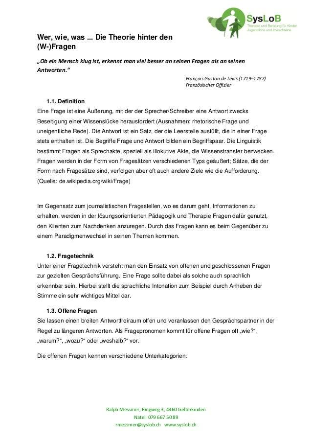 Ralph Messmer, Ringweg 3, 4460 Gelterkinden Natel: 079 667 50 89 rmessmer@syslob.ch www.syslob.ch Wer, wie, was ... Die Th...