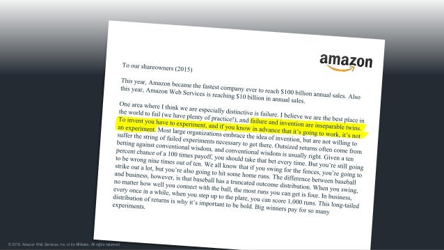 © 2019, Amazon Web Services, Inc. or its Affiliates. All rights reserved. Auctions, zShops -> Marketplace Learn from failu...