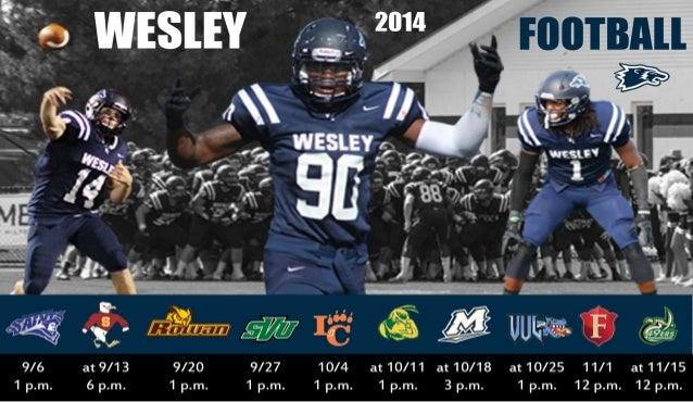 Wesley College Football >> Wesley Magnetic Football Schedule