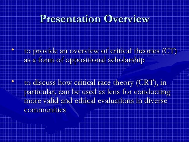 dissertations using critical race theory Previous research using both national child abuse and  corporal punishment of children critical race theory discipline of  dissertations, professional.