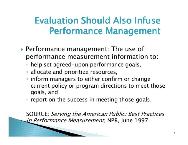 government performance measurement in usa It's up to us    appendix a: legal requirements for performance  measurement — a  management of government performance by.