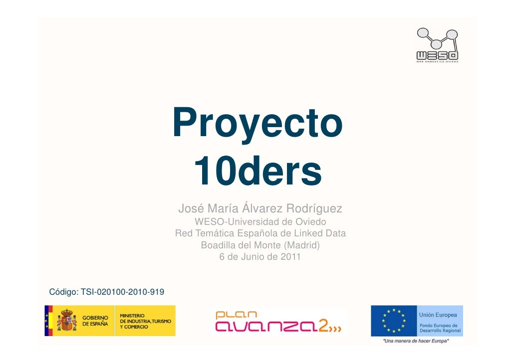 Proyecto                               10ders                              José María Álvarez Rodríguez                   ...