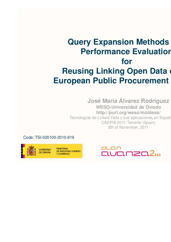Query Expansion Methods and                    Performance Evaluation                              for                Reus...