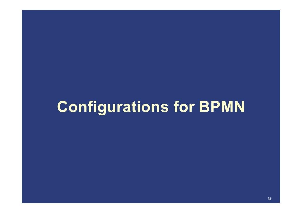 configurations for bpmn 12 - Bpmn 12