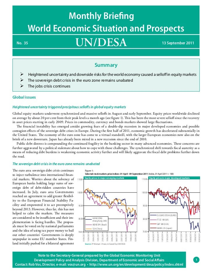 Monthly Briefing           World Economic Situation and Prospects   No. 35                                         UN/DESA...