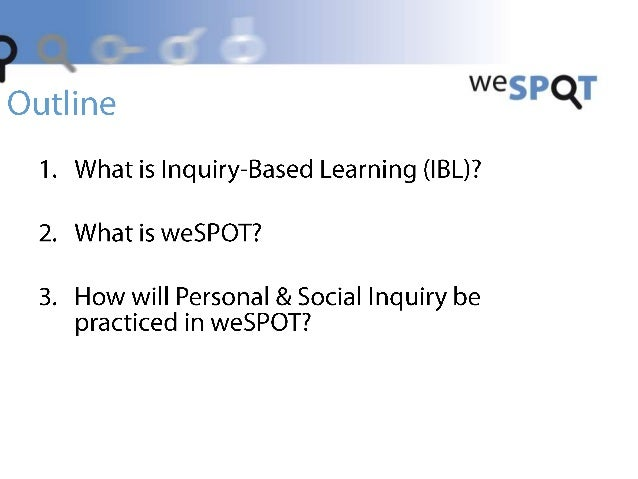 A Personalised Approach in Inquiry-Based Learning Slide 2
