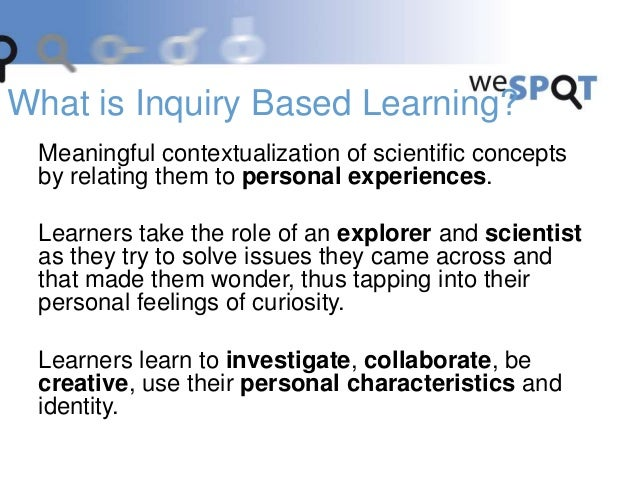 Meaningful contextualization of scientific concepts by relating them to personal experiences. Learners take the role of an...