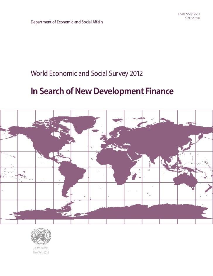 E/2012/50/Rev. 1                                                 ST/ESA/341Department of Economic and Social AffairsWorld ...