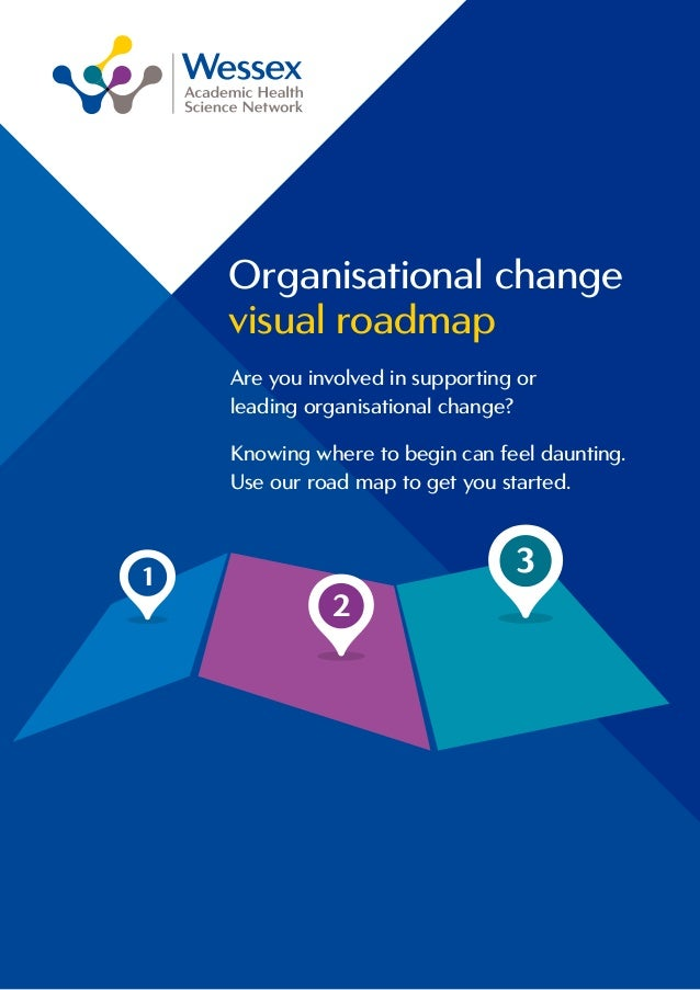 Organisational change visual roadmap 1 2 3 Are you involved in supporting or leading organisational change? Knowing where ...