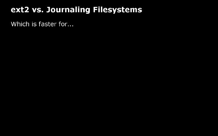 Linux Filesystems, RAID, and more
