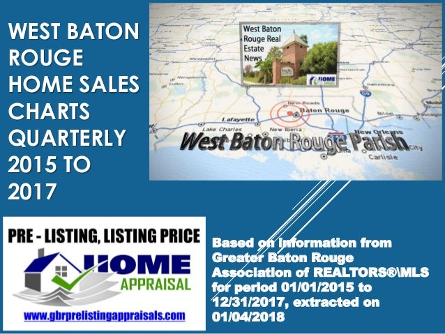 WEST BATON ROUGE HOME SALES CHARTS QUARTERLY 2015 TO 2017 Based on information from Greater Baton Rouge Association of REA...