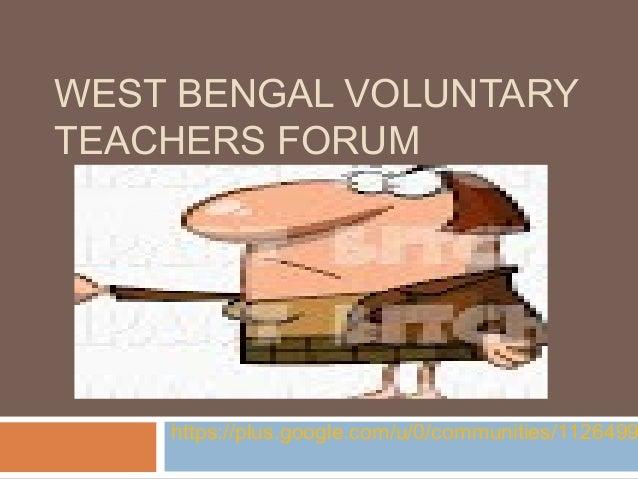 West Bengal voluntary teachers forum