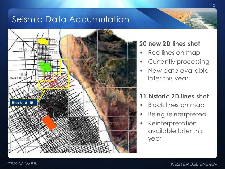 13Seismic Data Accumulation                            20 new 2D lines shot                            • Red lines on map...