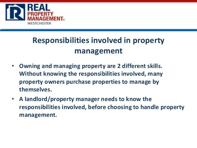 The Property Managers responsibility – Property Manager Job Description