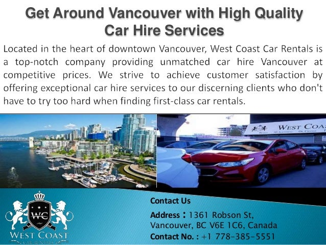 Get Around Vancouver With High Quality Car Hire Services