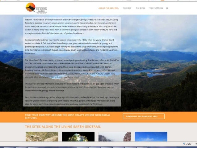 LIVING EARTH WEB PAGE ...