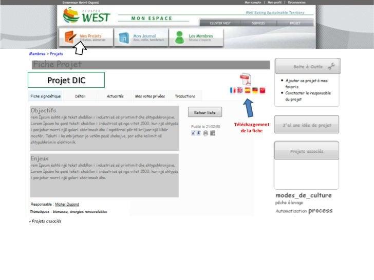 Projet DIC<br />Téléchargement <br />de la fiche<br />+ Projets associés<br />