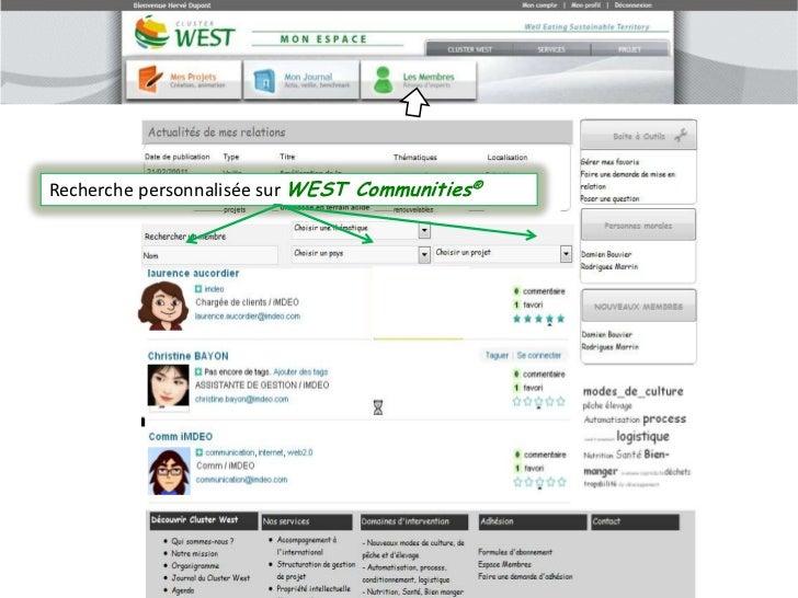 Recherche personnalisée sur WEST Communities®<br />