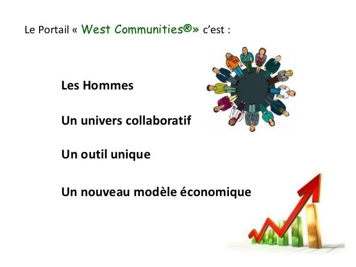 Le Portail «West Communities®» c'est:<br />Les Hommes <br />Un univers collaboratif<br />Un outil unique<br />Un nouveau...
