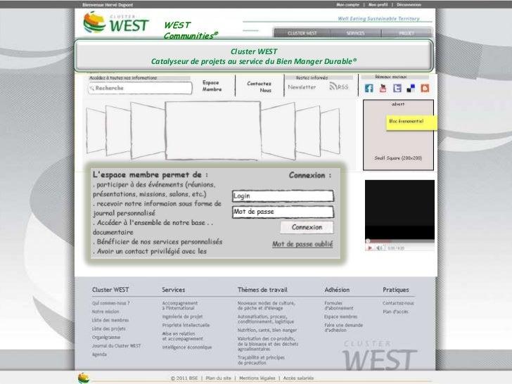 WEST Communities®<br />Cluster WEST<br />Catalyseur de projets au service du Bien Manger Durable®<br />