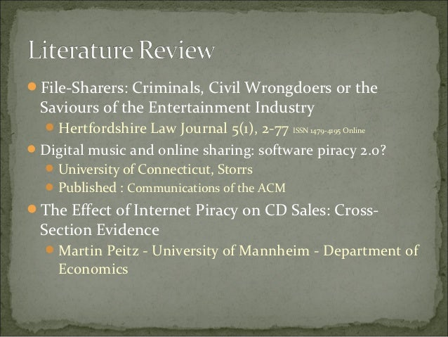 research on music piracy The european commission paid €360000 (about $428000) for a study on how  piracy impacts the sales of copyrighted music, books, video.