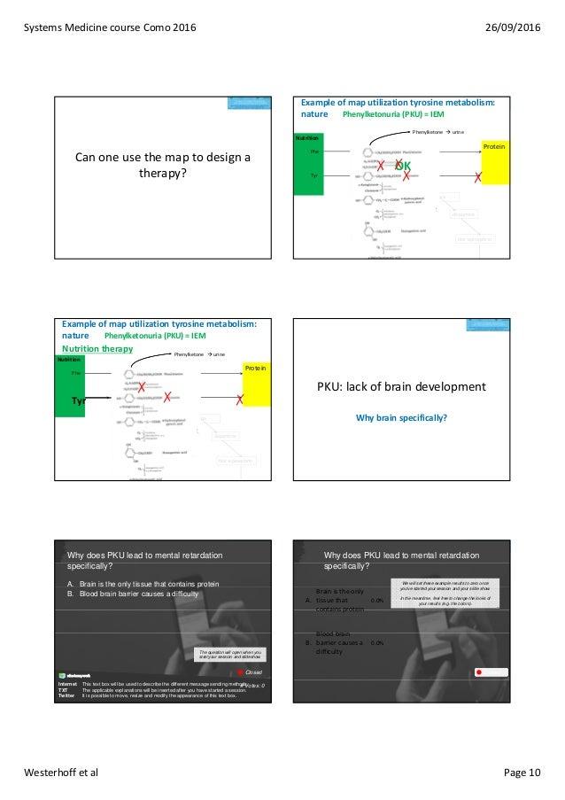 SystemsMedicinecourseComo2016 26/09/2016 Westerhoffetal Page10 Canoneusethemaptodesigna therapy? Exampleof...