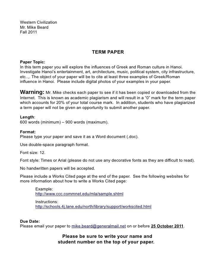 write art architecture term paper