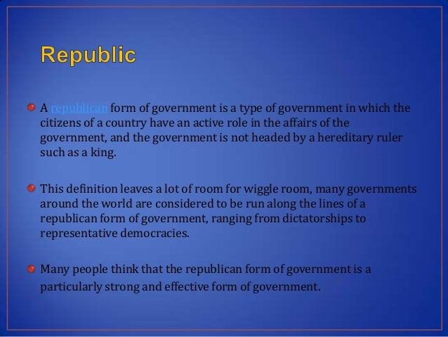 Western Classification of Government