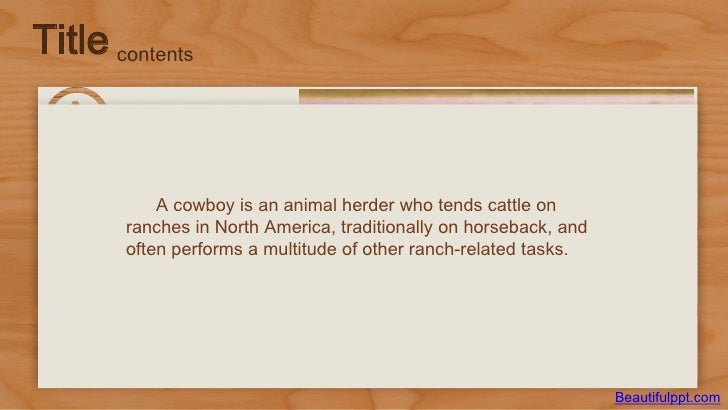 Powerpoint template western cowboys title contents beautifulppt 3 title contents a cowboy toneelgroepblik Image collections