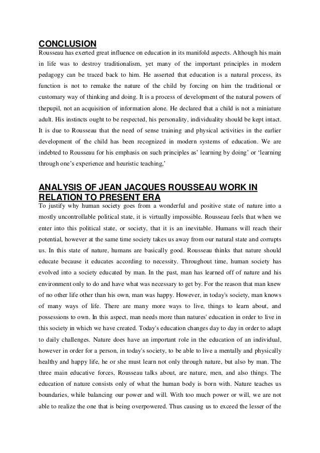 """western educationist """"jean jacques rousseau"""" 10 conclusion rousseau"""