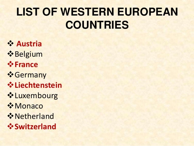Western European Style Of Management - Western european countries