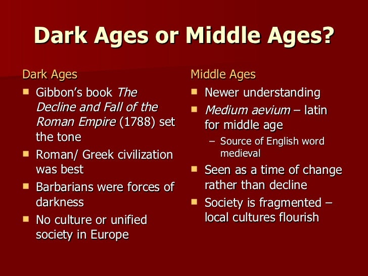 Dark Ages (historiography)