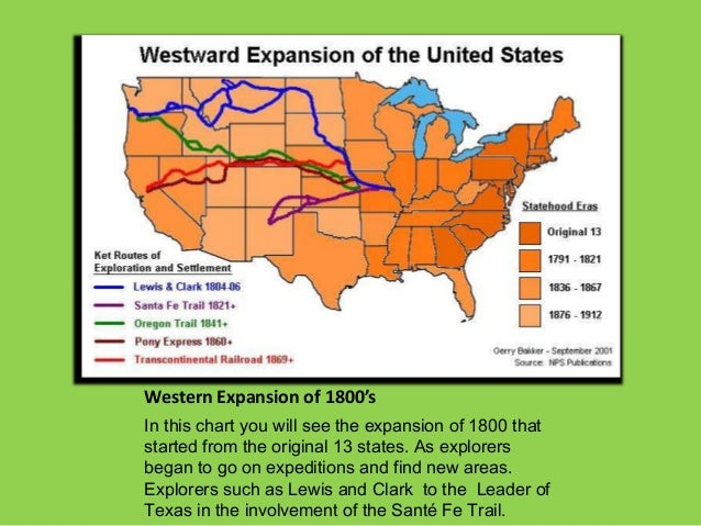 Western Expansion of 1800'sIn this chart you will see the expansion of 1800 thatstarted from the original 13 states. As ex...