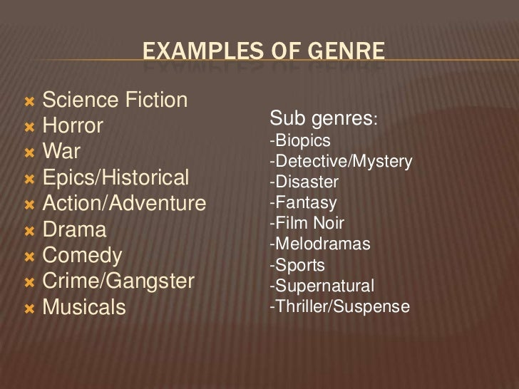Horror movie genre essay Ms Taylor Williams What aspects of a film determine its genre