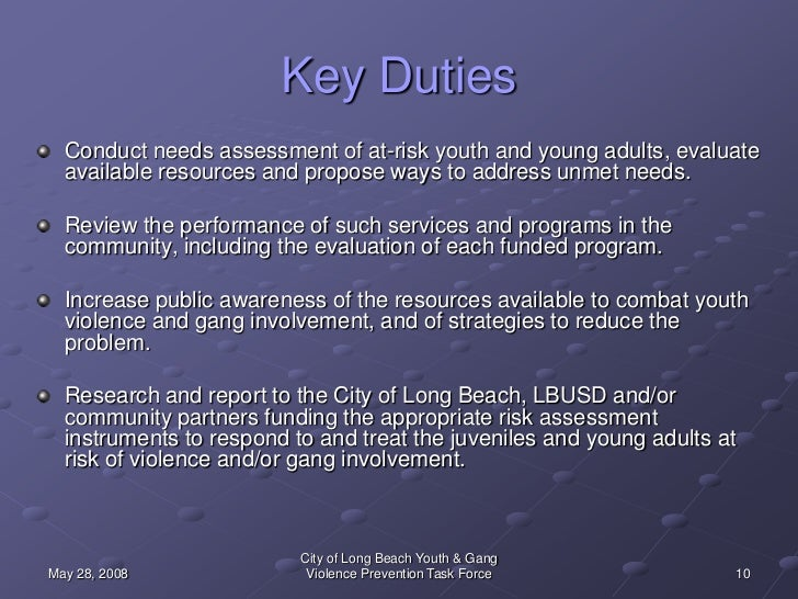City of Long Beach Youth and Gang Violence Prevention Task ...