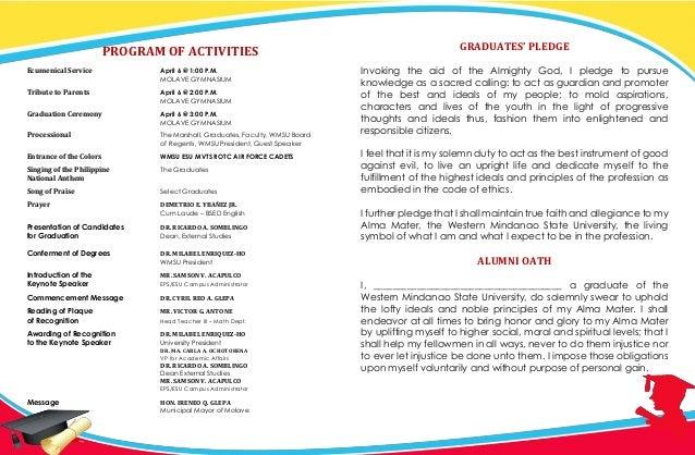 Western Mindanao State University Graduation Programme