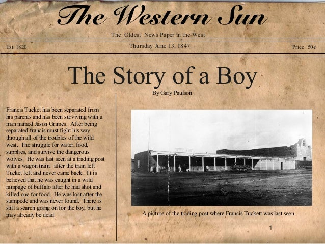 The Western Sun           The Oldest News Paper in the WestEst. 1820                                           Thursday Ju...