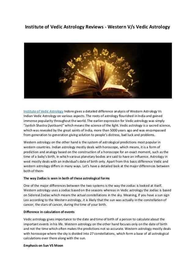 Institute Of Vedic Astrology Reviews Western Vs Indian Astrology