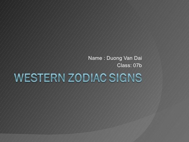 Name : Duong Van Dai Class: 07b