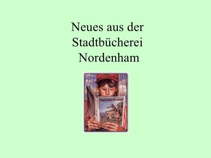 Neues aus der  Stadtbücherei  Nordenham