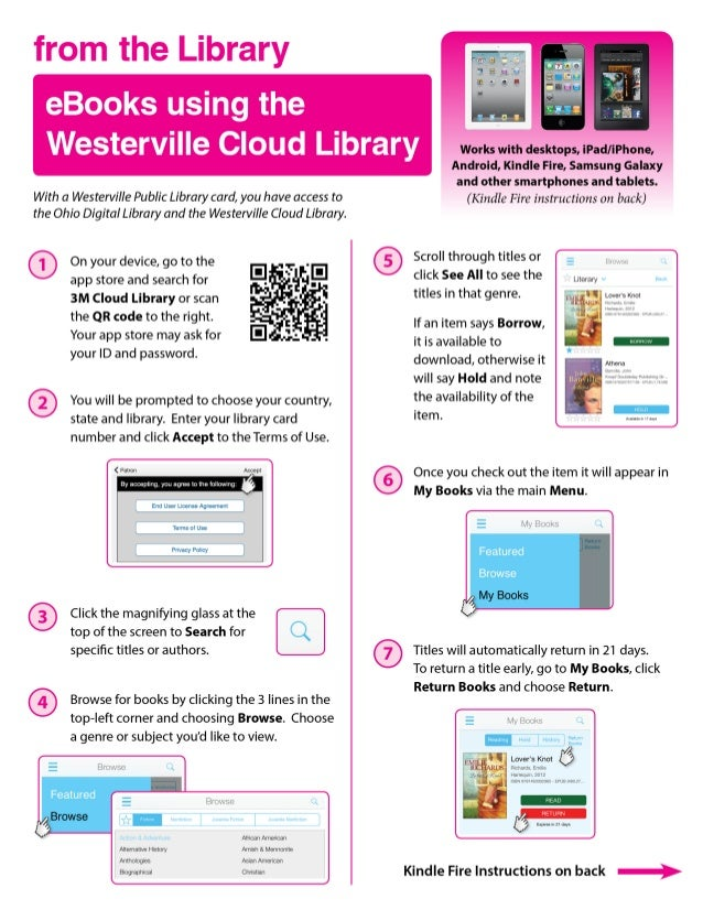 from the Library  eBooks using the  Westerville Cloud Library     With a Westerville Public Library card,  you have access...