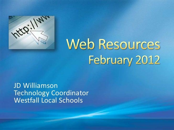 JD WilliamsonTechnology CoordinatorWestfall Local Schools