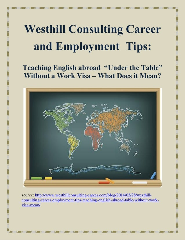 Westhill Consulting Career And Employment Tips Teaching
