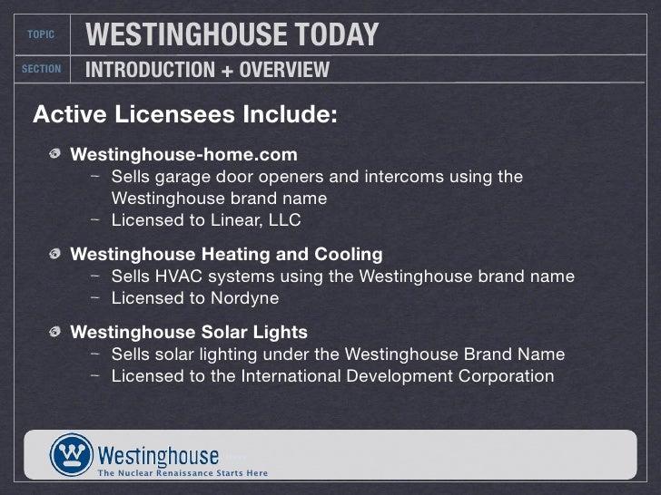 Westinghouse Solar Systems : Westinghouse final slides
