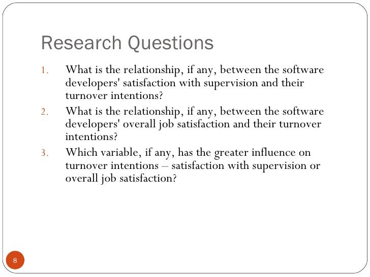 management influences on turnover intention of software developers essay Semistructured interviews were conducted with 10 it managers in the houston,   summary and study conclusions   posited that workplace environment  influenced turnover intentions  (2013) studied the effects of software  developer's.