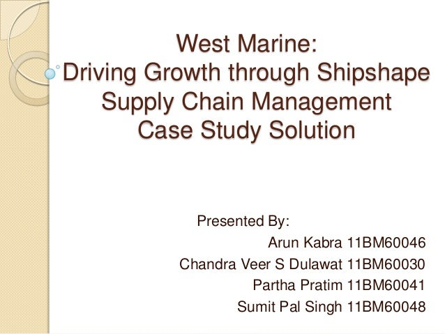 west marine case West marine: driving growth through shipshape supply chain management case solution, in january 2003, west marine (the nation's largest boating supply retailer) on the verge of acquiring its largest competitor boatus.