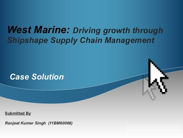 marine supply case study This case study accompanies the irgc report overfishing as a cause of fisheries depletion and collapse of animal protein in the human food supply.